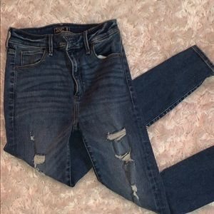 abercrombie high rise ripped jeans
